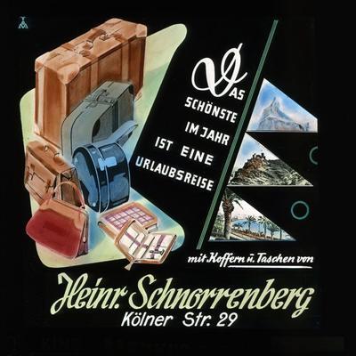 Koffer und Taschen von Heinr. Schnorrenberg